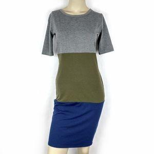 LuLaRoe Julia Color Block Pencil Dress XS